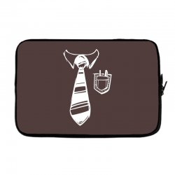 geek pocket protector tie Laptop sleeve | Artistshot