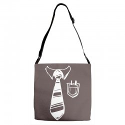 geek pocket protector tie Adjustable Strap Totes | Artistshot
