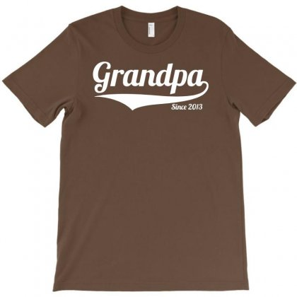 Grandpa Since 2013 T-shirt Designed By Mdk Art