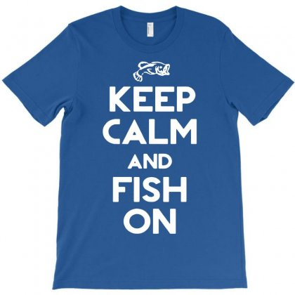Keep Calm And Fish On T-shirt Designed By Mdk Art
