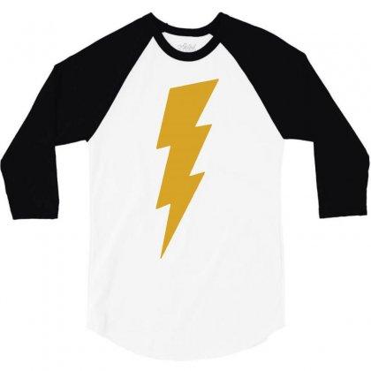 Lightning Bolt Camera Flash 3/4 Sleeve Shirt Designed By Mdk Art