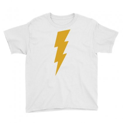 Lightning Bolt Camera Flash Youth Tee Designed By Mdk Art