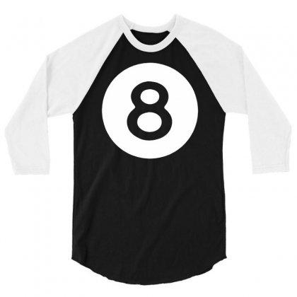 Magic 8 Ball 3/4 Sleeve Shirt Designed By Mdk Art