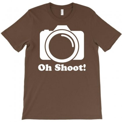 Oh Shoot Camera T-shirt Designed By Mdk Art