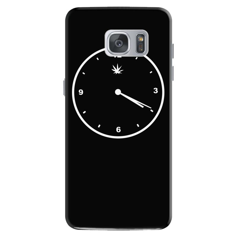 420 Clock Face Stoner Humour Weed Cannabis Pot Four Twenty Samsung Galaxy  S7 Case  By Artistshot