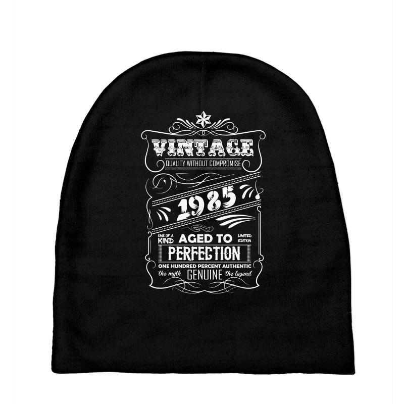 b72d46b5 Custom Vintage Aged To Perfection 1985 Baby Beanies By ...