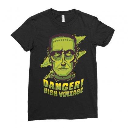 Halloween Frankenstein Ladies Fitted T-shirt Designed By Sbm052017