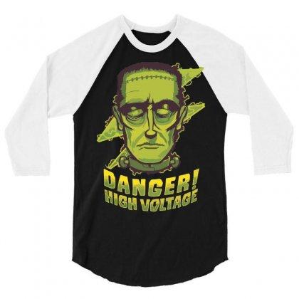 Halloween Frankenstein 3/4 Sleeve Shirt Designed By Sbm052017