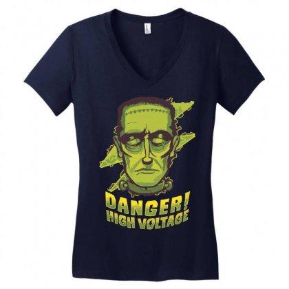 Halloween Frankenstein Women's V-neck T-shirt Designed By Sbm052017