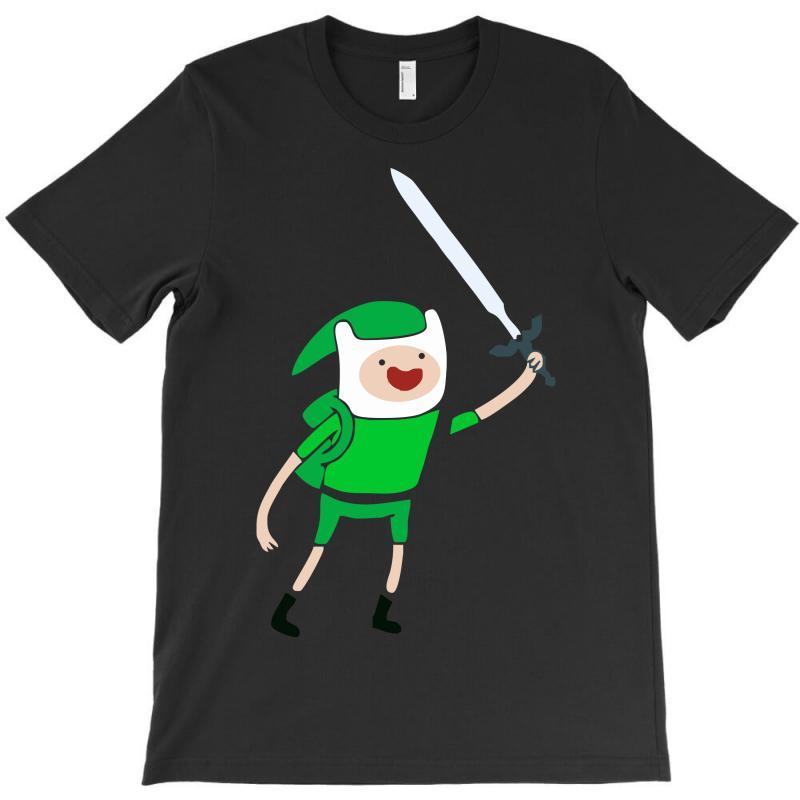 fea62a884 Custom Adventure Time Legend Of Zelda Link T-shirt By Mdk Art ...