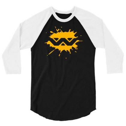 Alien Weyland Yutani Corporation Splat 3/4 Sleeve Shirt Designed By Mdk Art