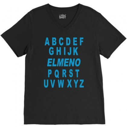 Alphabet Abc Elemno V-neck Tee Designed By Mdk Art