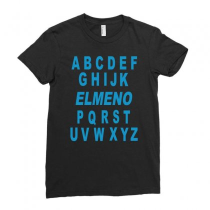 Alphabet Abc Elemno Ladies Fitted T-shirt Designed By Mdk Art