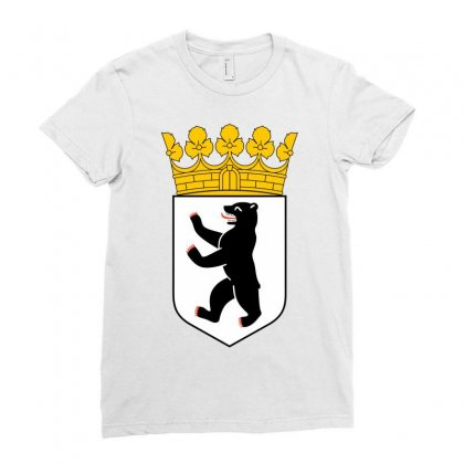 Berlin Ladies Fitted T-shirt Designed By Mdk Art