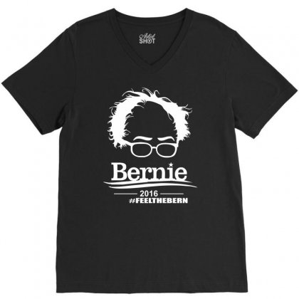 Bernie Sanders 2016 For President Election Campaign V-neck Tee Designed By Mdk Art