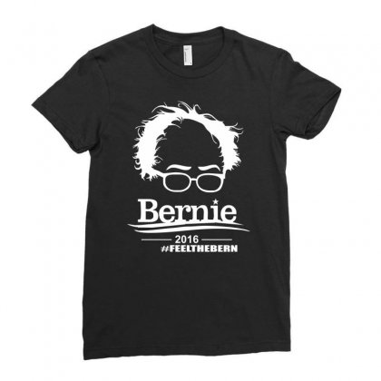 Bernie Sanders 2016 For President Election Campaign Ladies Fitted T-shirt Designed By Mdk Art