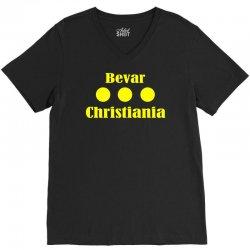 bevar christiania flag logo V-Neck Tee   Artistshot
