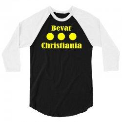 bevar christiania flag logo 3/4 Sleeve Shirt   Artistshot