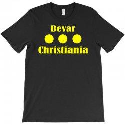 bevar christiania flag logo T-Shirt   Artistshot