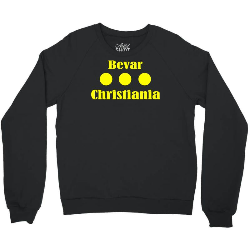 Bevar Christiania Flag Logo Crewneck Sweatshirt   Artistshot