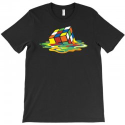 big bang theory sheldon cooper melting rubik's cube cool geek T-Shirt | Artistshot
