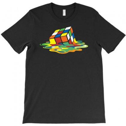 Big Bang Theory Sheldon Cooper Melting Rubik's Cube Cool Geek T-shirt Designed By Mdk Art