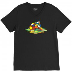 big bang theory sheldon cooper melting rubik's cube cool geek V-Neck Tee | Artistshot