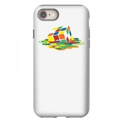 big bang theory sheldon cooper melting rubik's cube cool geek iPhone 8 Case | Artistshot