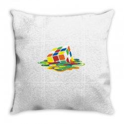 big bang theory sheldon cooper melting rubik's cube cool geek Throw Pillow | Artistshot