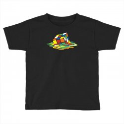 big bang theory sheldon cooper melting rubik's cube cool geek Toddler T-shirt | Artistshot
