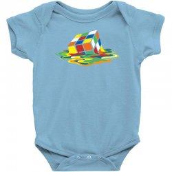 big bang theory sheldon cooper melting rubik's cube cool geek Baby Bodysuit | Artistshot