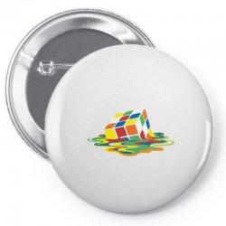 big bang theory sheldon cooper melting rubik's cube cool geek Pin-back button | Artistshot