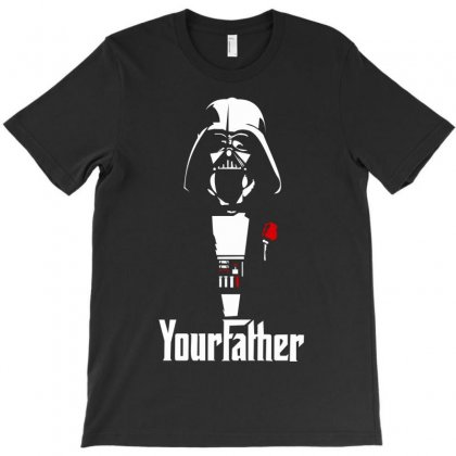 Funny Stars Wars Godfather Parody Yourfather Mens T-shirt Designed By Cuser388
