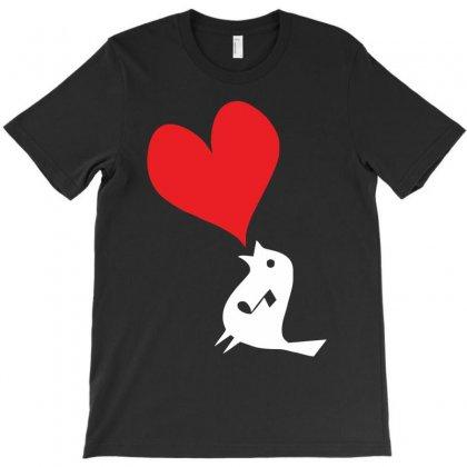 Bird Love Heart Animal Graph Note Music Party Pop Art Gift T-shirt Designed By Mdk Art