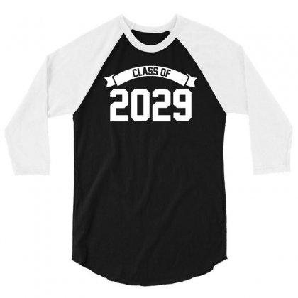 Class Of 2029 3/4 Sleeve Shirt Designed By Cuser388