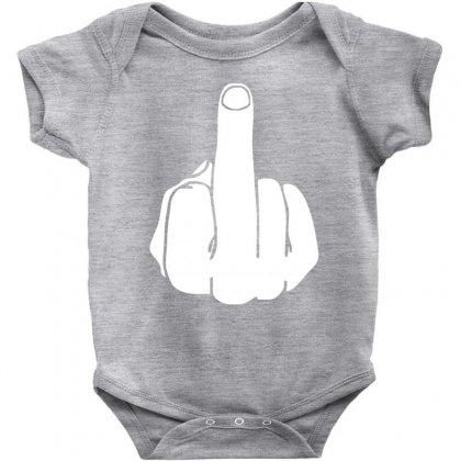 Middle Finger Baby Bodysuit Designed By Cuser388