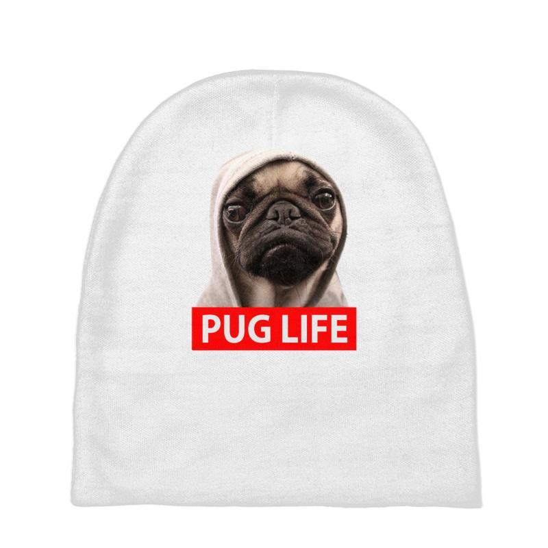 Custom Pug Life Baby Beanies By Cuser388 - Artistshot 1f135699c23