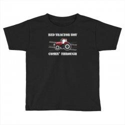 case ih red tractor boy comin' through Toddler T-shirt | Artistshot