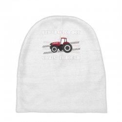 case ih red tractor boy comin' through Baby Beanies | Artistshot
