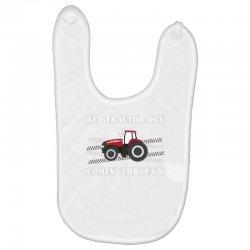case ih red tractor boy comin' through Baby Bibs | Artistshot
