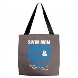 swim mom loud and proud sports athlete athletic Tote Bags | Artistshot