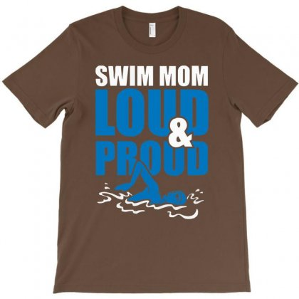 Swim Mom Loud And Proud Sports Athlete Athletic T-shirt Designed By Cuser388