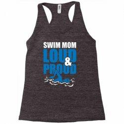 swim mom loud and proud sports athlete athletic Racerback Tank | Artistshot