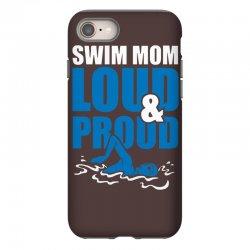swim mom loud and proud sports athlete athletic iPhone 8 Case | Artistshot