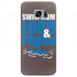 swim mom loud and proud sports athlete athletic Samsung Galaxy S7 Edge Case | Artistshot
