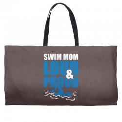 swim mom loud and proud sports athlete athletic Weekender Totes | Artistshot