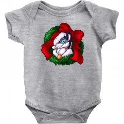 christmas wreath bluebie bust by bluekazenate Baby Bodysuit | Artistshot