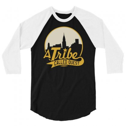 A Tribe Called Quest City Skyline Atcq 3/4 Sleeve Shirt Designed By Mdk Art