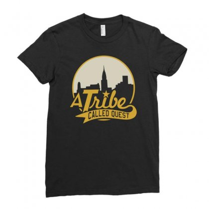 A Tribe Called Quest City Skyline Atcq Ladies Fitted T-shirt Designed By Mdk Art