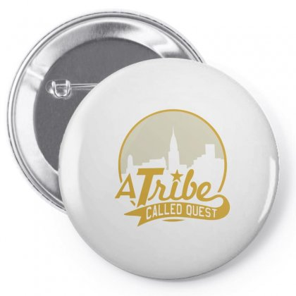 A Tribe Called Quest City Skyline Atcq Pin-back Button Designed By Mdk Art